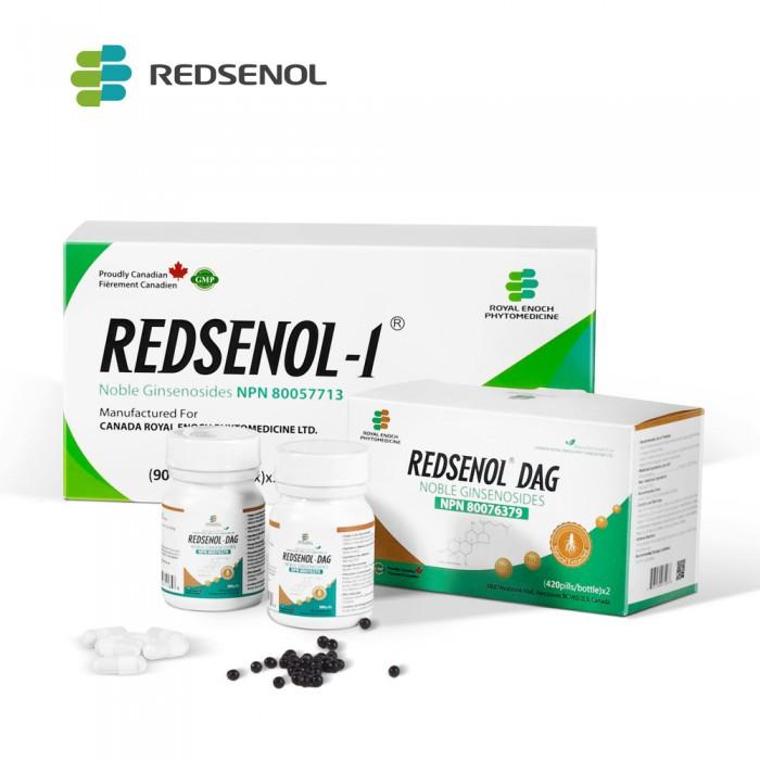 Redsenol Buddle-REDSENOL-1(3 Boxes) & REDSENOL DAG (2 Bottles) Rare Ginsenosides- Multicomponent Highly Bioactive Rare Ginsenosides