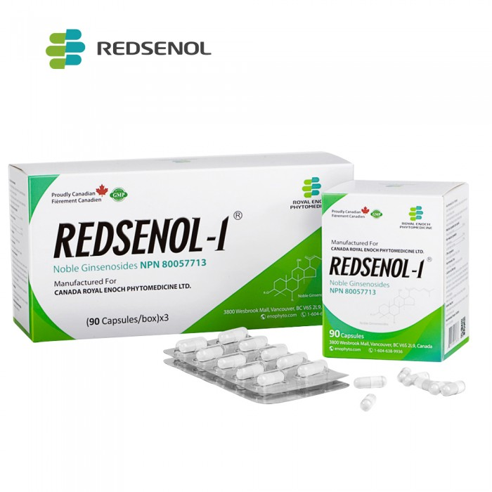 Redsenol-1 Noble Ginsenoside Capsules Contain 16 Rare Ginsenosides